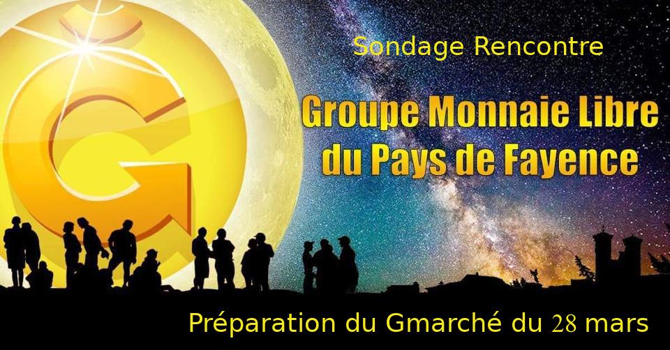 Sondage préparation Gmarché 28 mars
